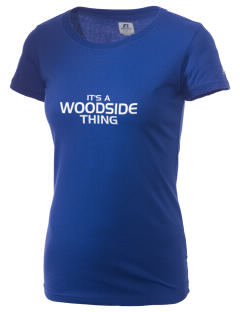 Woodside Elementary School Wolves  Russell Women's Campus T-Shirt