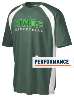 Riverdale High School Cowboys Men's Dry Zone Colorblock T-Shirt