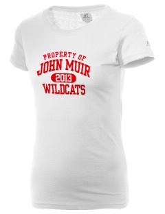 John Muir Middle School Wildcats  Russell Women's Campus T-Shirt