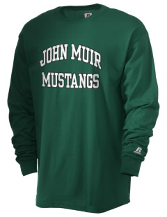 John Muir Middle School Mustangs  Russell Men's Long Sleeve T-Shirt