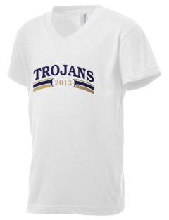 MOUNT UNION AREA jr.sr.HIGHSCHOOL TROJANS Kid's V-Neck Jersey T-Shirt