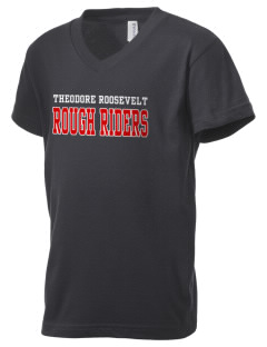 Theodore Roosevelt Middle School Rough Riders Kid's V-Neck Jersey T-Shirt