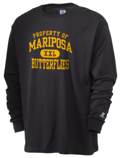 Mariposa Elementary School Butterflies  Russell Men's Long Sleeve T-Shirt