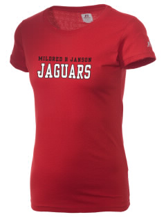 Mildred B Janson Elementary School Jaguars  Russell Women's Campus T-Shirt