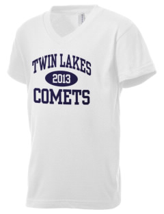 Twin Lakes Elementary School Comets Kid's V-Neck Jersey T-Shirt