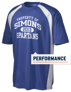 Simons Middle School Spartans Men's Dry Zone Colorblock T-Shirt