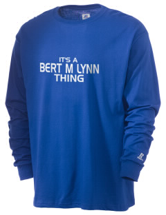 Bert M Lynn Middle School Leopards  Russell Men's Long Sleeve T-Shirt