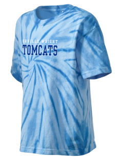 Orville Wright Middle School Tomcats Kid's Tie-Dye T-Shirt
