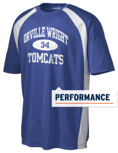 Orville Wright Middle School Tomcats Men's Dry Zone Colorblock T-Shirt