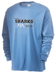 samoana high sharks  Russell Men's Long Sleeve T-Shirt
