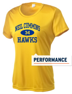 Neil Cummins Elementary School Hawks Women's Competitor Performance T-Shirt