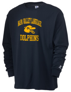 Napa Valley Language Center Dolphins  Russell Men's Long Sleeve T-Shirt