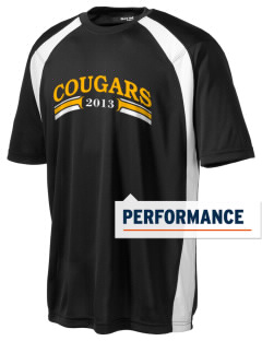 Brea Country Hills Elementary School Cougars Men's Dry Zone Colorblock T-Shirt