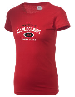 Carl E Gilbert Elementary School Grizzlies  Russell Women's Campus T-Shirt