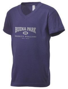 Buena Park Junior High School Stallions Kid's V-Neck Jersey T-Shirt