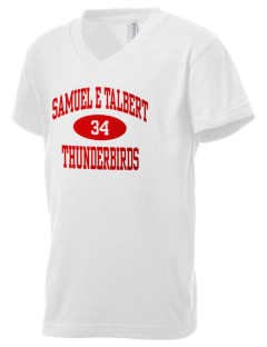 Samuel E Talbert Middle School Thunderbirds Kid's V-Neck Jersey T-Shirt