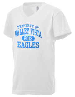 Valley Vista High School Eagles Kid's V-Neck Jersey T-Shirt