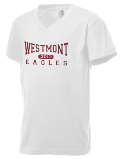 Westmont Elementary School Eagles Kid's V-Neck Jersey T-Shirt