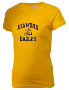 Diamond Elementary School Eagles  Russell Women's Campus T-Shirt