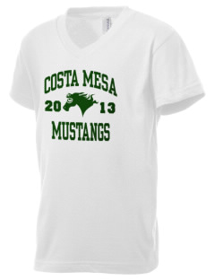 Costa Mesa High School Mustangs Kid's V-Neck Jersey T-Shirt