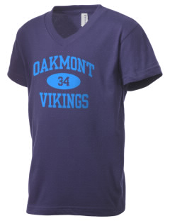 Oakmont High School Vikings Kid's V-Neck Jersey T-Shirt