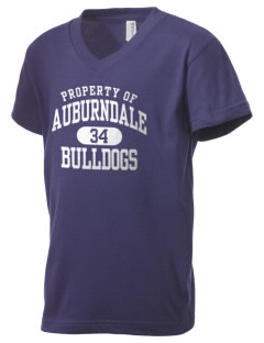 Auburndale Intermediate School Bulldogs Kid's V-Neck Jersey T-Shirt