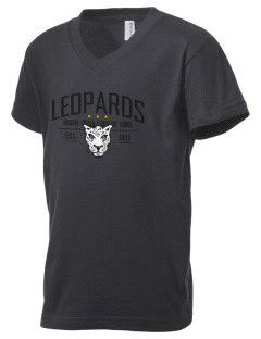 Abraham Lincoln Elementary School Leopards Kid's V-Neck Jersey T-Shirt