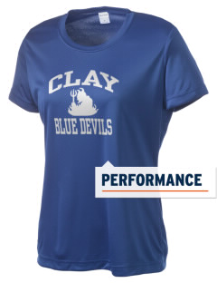 Clay High School Blue Devils Women's Competitor Performance T-Shirt