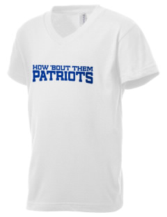 American High School Patriots Kid's V-Neck Jersey T-Shirt