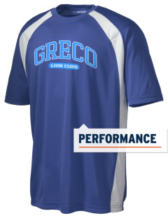 Greco Middle School Lion Cubs Men's Dry Zone Colorblock T-Shirt