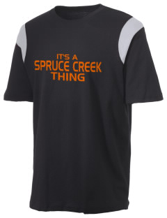 Spruce Creek High School Hawks Holloway Men's Rush T-Shirt