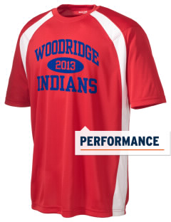 Woodridge Elementary School Indians Men's Dry Zone Colorblock T-Shirt