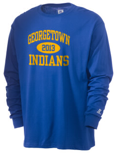 Georgetown Elementary School Indians  Russell Men's Long Sleeve T-Shirt