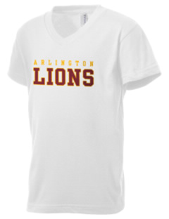 Arlington High School Lions Kid's V-Neck Jersey T-Shirt