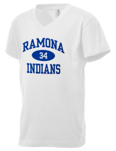 Ramona Junior High School Indians Kid's V-Neck Jersey T-Shirt