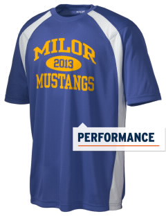 Milor Continuation Senior High School Mustangs Men's Dry Zone Colorblock T-Shirt