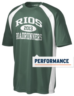 Rios Elementary School Roadrunners Men's Dry Zone Colorblock T-Shirt