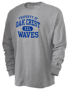 Oak Crest Middle School Waves  Russell Men's Long Sleeve T-Shirt