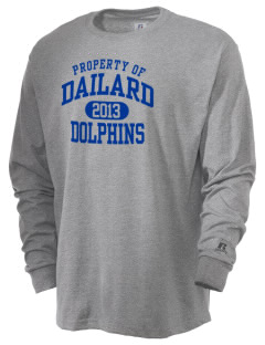 Dailard Elementary School Dolphins  Russell Men's Long Sleeve T-Shirt