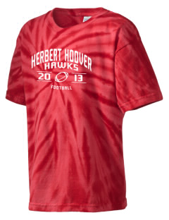 Herbert Hoover Middle School Hawks Kid's Tie-Dye T-Shirt