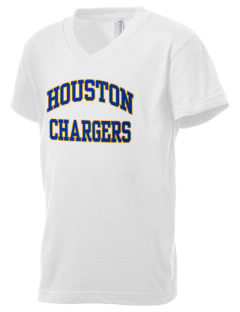 Houston Elementary School Chargers Kid's V-Neck Jersey T-Shirt