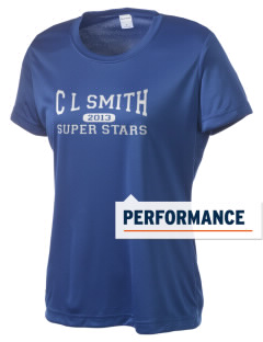 C L Smith Elementary School Super Stars Women's Competitor Performance T-Shirt