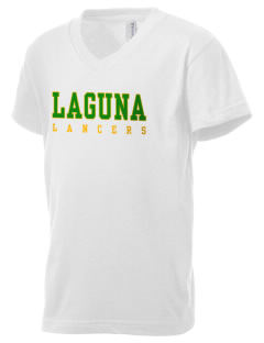 Laguna Middle School Lancers Kid's V-Neck Jersey T-Shirt
