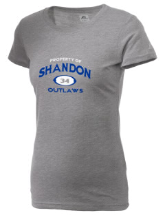 Shandon Senior High School Outlaws  Russell Women's Campus T-Shirt