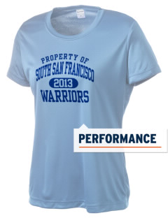 South San Francisco High School Warriors Women's Competitor Performance T-Shirt