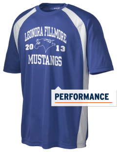 Leonora Fillmore Elementary School Mustangs Men's Dry Zone Colorblock T-Shirt