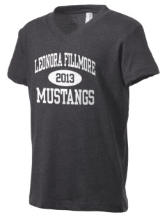 Leonora Fillmore Elementary School Mustangs Kid's V-Neck Jersey T-Shirt