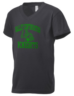Valley Continuation High School Knights Kid's V-Neck Jersey T-Shirt