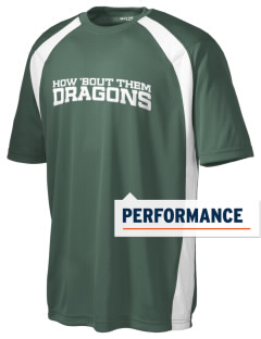 De Laveaga Elementary School Dragons Men's Dry Zone Colorblock T-Shirt