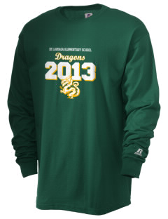 De Laveaga Elementary School Dragons  Russell Men's Long Sleeve T-Shirt